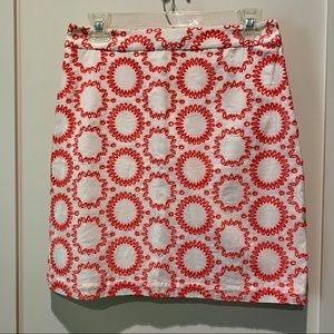Banana Republic Knee Length Patterned Skirt